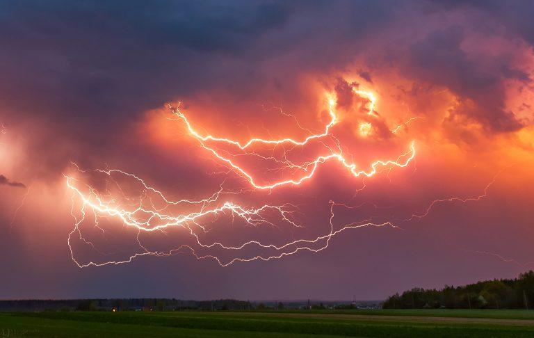 First lightning storm of 2019
